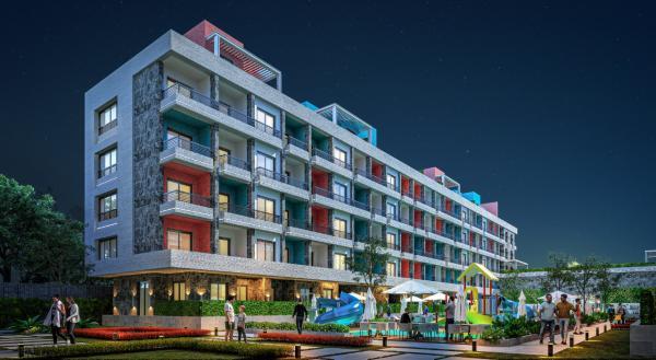 شقة للبيع في مصر غرفتين وصالة بقسط 1250 ريال